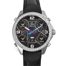 ジェイコブ時計スーパーコピー 5タイムゾーン ダイヤモンド ブラック