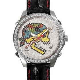ジェイコブ腕時計スーパーコピー クォーツ スカル ダイヤモンド デイト