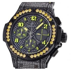 ウブロ時計スーパーコピー ビッグバン ブラックフローイエロー 世界250本限定341.SV.9090.PR.0911