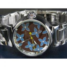 ルイヴィトン時計スーパーコピー louis vuitton腕時計 自動巻/茶文字盤/女性用 LV-003