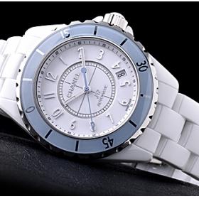 シャネルJ12スーパーコピー時計ソフトブルー H4341
