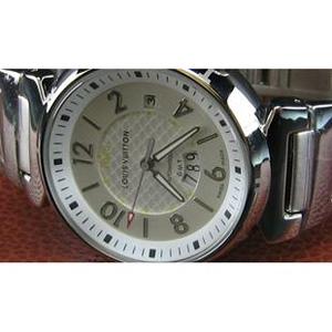 ルイヴィトン時計スーパーコピー louis vuitton腕時計 GMT自動巻シルバー文字盤 LV-012