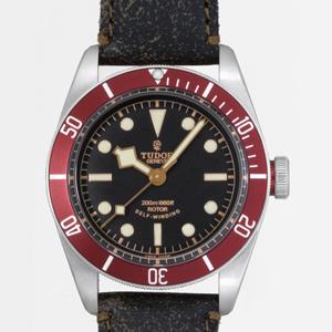 チュードル 腕時計スーパーコピー ヘリテージ ブラックベイブラック革 ブラック 79220R
