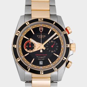 チュードル 腕時計スーパーコピー グランツアークロノ フライバック 3列ブレス ブラック20551N