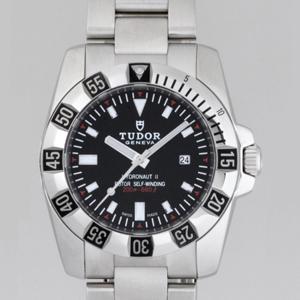 チュードル 腕時計スーパーコピー ハイドロノートII3列ブレス レディース ブラック 24030