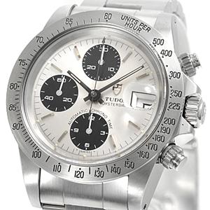チュードル時計スーパーコピー クロノタイム 自動巻き シルバー/ブラック 79180